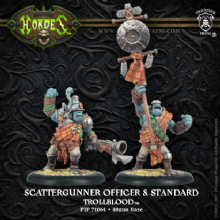Trollblood Scattergunner Officer & Standard (2)